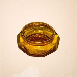 Vintage Amber Jewelry Dish